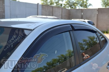 Ветровики Хендай Элантра 4 (дефлекторы окон Hyundai Elantra 4 HD