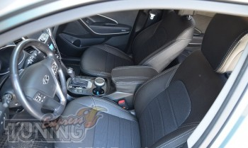 Чехлы Хендай Санта Фе 3 ДМ (чехлы на Hyundai Santa Fe 3 DM)