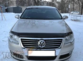 Мухобойка Фольксваген Пассат Б6 (дефлектор капота Volkswagen Pas
