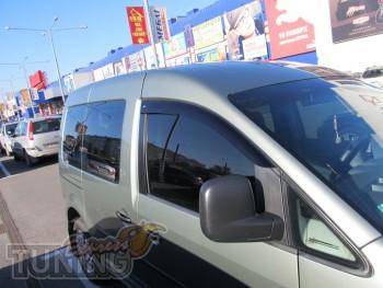 Ветровики Фольксваген Кадди 3 (дефлекторы окон Volkswagen Caddy