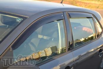 Ветровики Фольксваген Поло 5 хэтчбек (дефлекторы окон Volkswagen