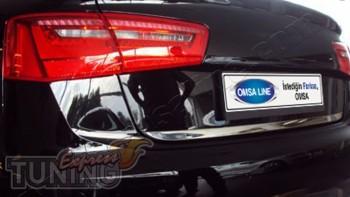 Купить хром окантовку багажника Ауди А6 С7 (хром кант багажника