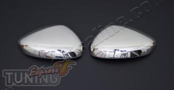 Хромированные накладки на зеркала Ситроен С4 2 (хром пакет на бо