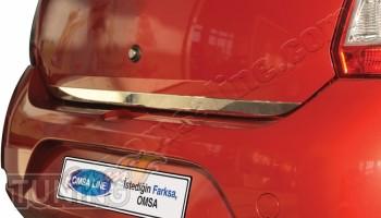 Хромированная накладка на кромку багажника Renault Sandero 2 (хр