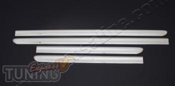Хромированные дверные молдинги Fiat Doblo 1 (хром пакет на двери