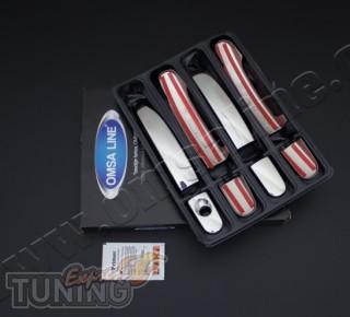Купить хром накладки на боковые ручки Форд Фокус 2 поколения (хр