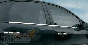 Хромированные нижние молдинги стекол Ford Focus 2 (хром накладки