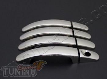 Хромированные накладки на дверные ручки Форд Мондео 4 (хром паке