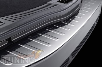 Хромированная накладка на задний бампер Форд Мондео 4 (хром молд