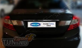 Хромированная накладка над номером Хонда Цивик 9 седан (хром мол