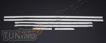 Хром накладки на боковые стекла Хонда Цивик 9 (хром пакет на окн