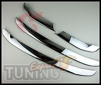 Купить хром накладки на решетку радиатора Hyundai Santa Fe 2 (хр