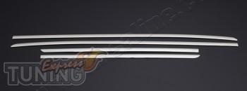 Хромированные дверные молдинги Kia Ceed 2 (хром накладки на молд