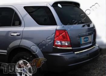 Хромированная кромка багажника Киа Соренто 1 (хром кант задней д