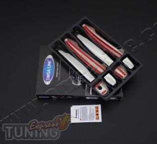 Купить хром накладки на боковые ручки Лексус GX470 (хром накладк