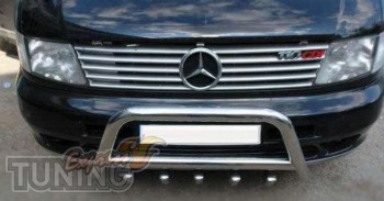 Хромированные накладки на решетку Mercedes Vito 638 (хром наклад