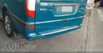 хромированная накладка заднего бампера Mercedes Vito W639