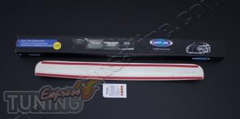 Хромированная планка заднего номера Nissan Qashqai 1 (хром накла