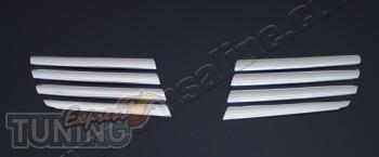 Купить хромированные накладки на решетку Ниссан Кашкай 1 (хром о