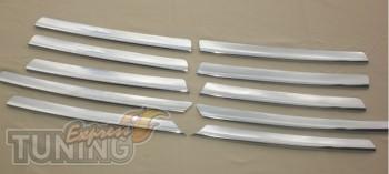 Хромированные накладки на решетку радиатора Опель Астра Ж (хром