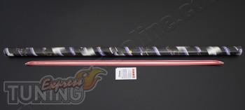 Хромированная кромка на низ багажника Пежо 308 (хром молдинг зад