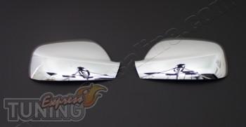 Хром накладки на боковые зеркала Пежо 407 (комплект хром зеркал