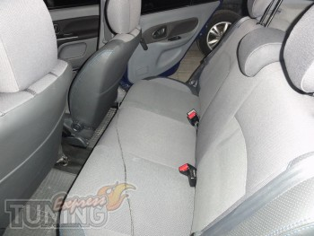 заказать Чехлы Рено Клио 2 (авточехлы на сиденья Renault Clio 2)