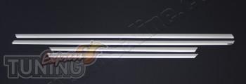 Хромированные молдинги на двери Рено Меган 2 (хром пакет на двер
