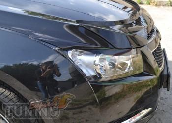 Реснички на передние фары Chevrolet Cruze седан