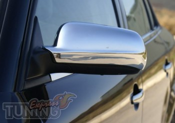 Хром накладки на зеркала шкода Суперб 1 (хром крышки зеркал Skod