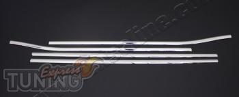 Хромированные молдинги стекол Toyota Auris 1 (комплект хром накл