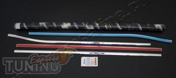 Хромированные накладки на окантовку стекол Тойота Аурис 1 (хром
