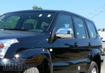 Хромированные накладки на зеркала Тойота Прадо 120 (купить хром