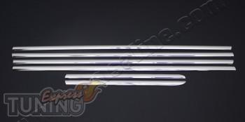 Хромированные молдинги стекол Тойота Прадо 120 (хром накладки на