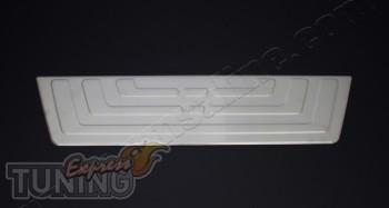 Защитная накладка заднего бампера на Фольксваген Амарок (хром на