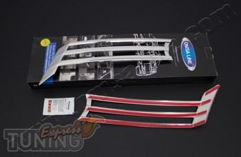Хром накладки на переднюю решетку Volkswagen Caddy (накладки из