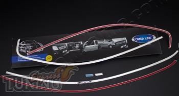 Хромированные верхние молдинги на стекла Volkswagen Jetta 6 (фот