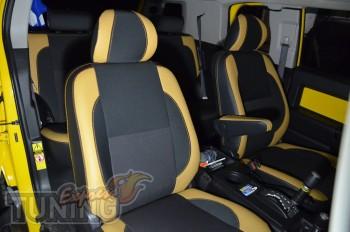 Чехлы в салон Toyota FJ Cruiser (авточехлы на сиденья Тойота Кру