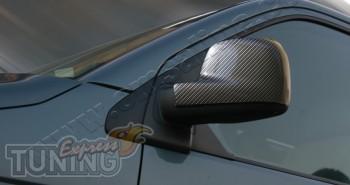 Карбоновые накладки на зеркала Фольксваген Транспортер Т5 (накла