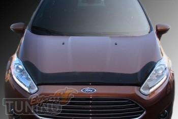 Мухобойка капота Форд Фиеста 2015- (дефлектор на капот Ford Fies