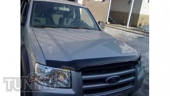Дефлектор на капот Форд Рейнджер с 2010 (мухобойка Ford Ranger 2