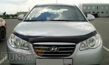 Мухобойка капота Хендай Элантра 4 HD (дефлектор на капот Hyundai