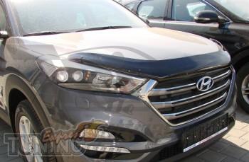 Мухобойка капота Хендай Туксон 2 ТЛ (дефлектор на капот Hyundai