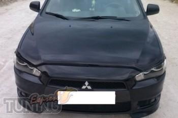 Мухобойка капота Mitsubishi Lancer X (