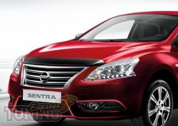 Мухобойка капота Ниссан Сентра (дефлектор на капот Nissan Sentra