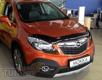 Мухобойка капота Опель Мокка (дефлектор на капот Opel Mokka)