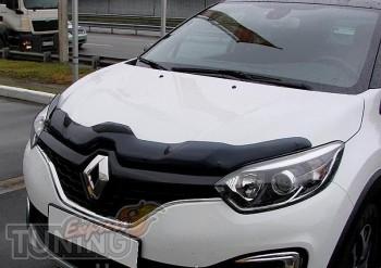 Мухобойка капота Рено Каптюр (дефлектор на капот Renault Captur)