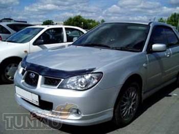 Мухобойка капота Субару Импреза 3 (дефлектор на капот Subaru Imp