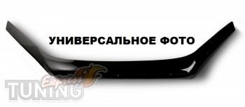 Мухобойка капота Тойота Хайлендер с логотипом (дефлектор на капо