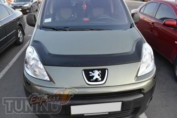 Мухобойка Пежо Партнер 2 (дефлектор капота Peugeot Partner 2)